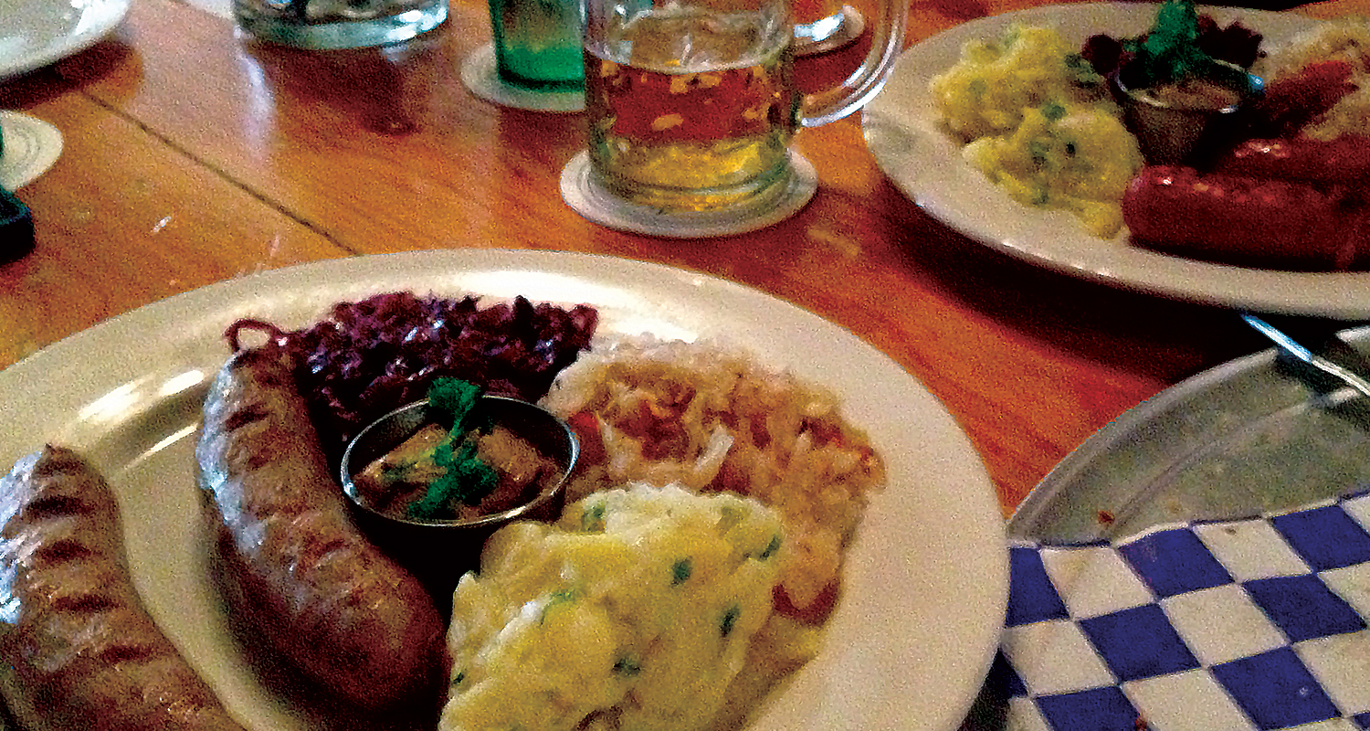 german cuisine and oktoberfest Oktoberfest is a 16-18 day festival held each year in munichit is the largest (public) festival in the world, each year attracting over six million visitors (72% bavarians and 15% tourists.