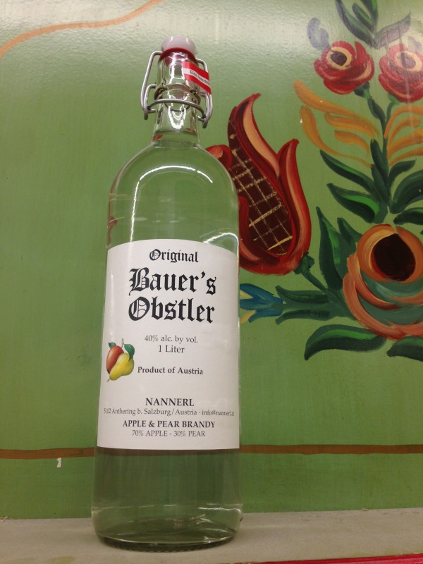 A classic German schnapps Bauer's Obstler