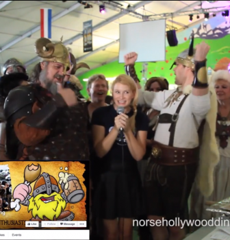 Alpine Village Zuperfans at Oktoberfest in Los Angeles! The Norse Hollywood Dining Vikings